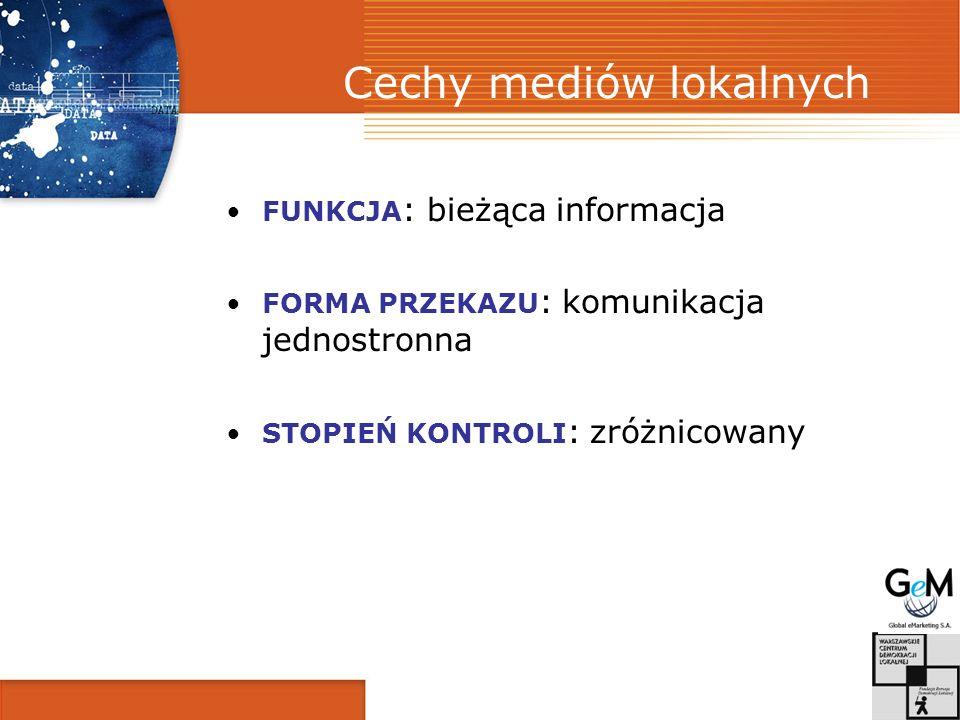 Cechy mediów lokalnych