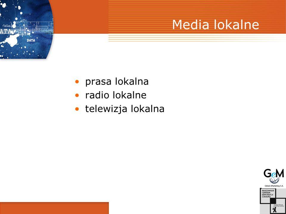 Media lokalne prasa lokalna radio lokalne telewizja lokalna