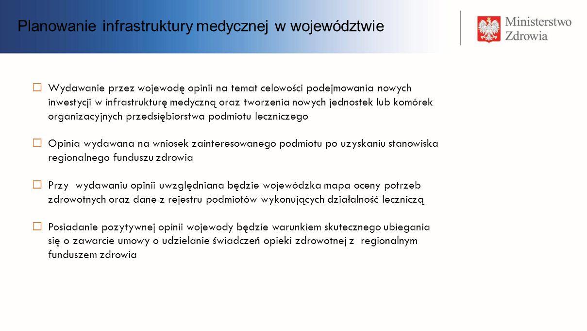 Planowanie infrastruktury medycznej w województwie