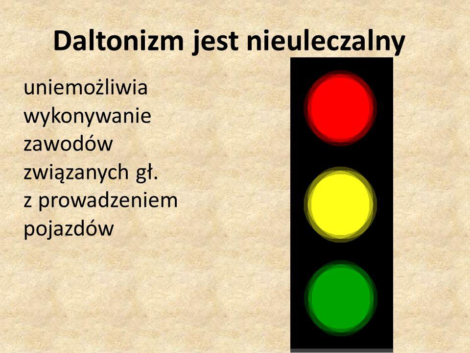 Daltonizm jest nieuleczalny