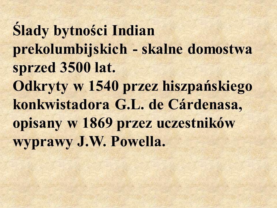 Ślady bytności Indian prekolumbijskich - skalne domostwa sprzed 3500 lat.