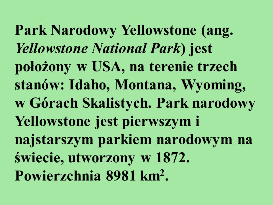 Park Narodowy Yellowstone (ang