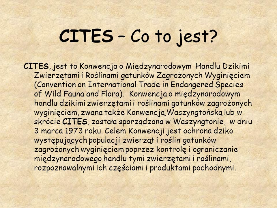 CITES – Co to jest