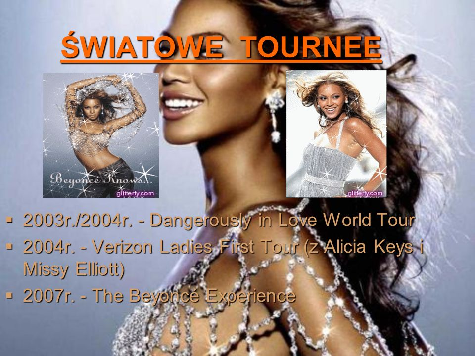 ŚWIATOWE TOURNEE 2003r./2004r. - Dangerously in Love World Tour