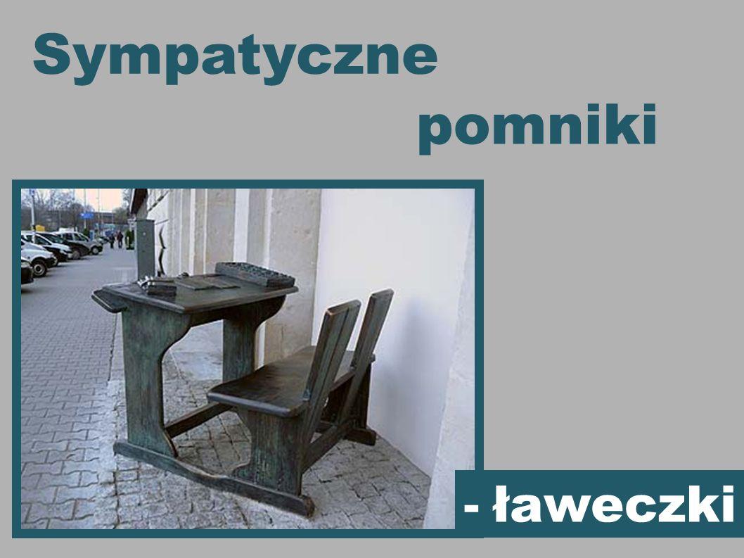 Sympatyczne pomniki - ławeczki 1