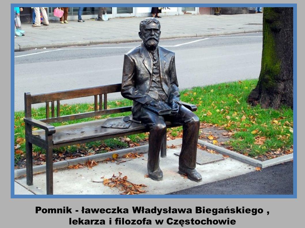 Pomnik - ławeczka Władysława Biegańskiego ,