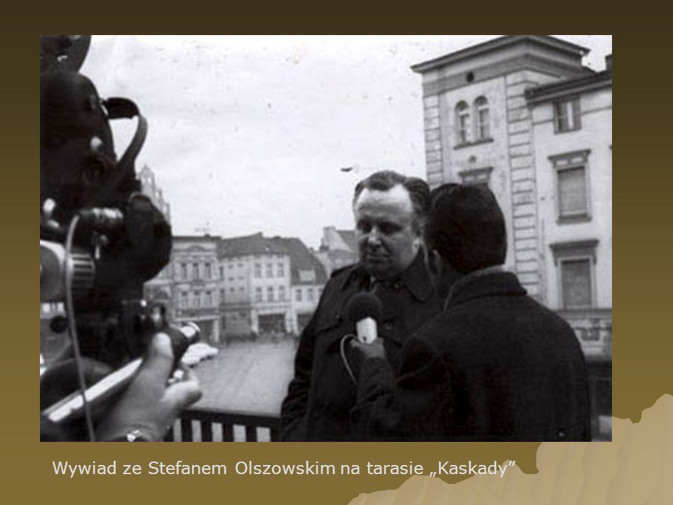 """Wywiad ze Stefanem Olszowskim na tarasie """"Kaskady"""