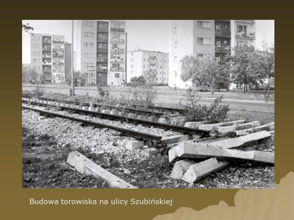 Budowa torowiska na ulicy Szubińskiej