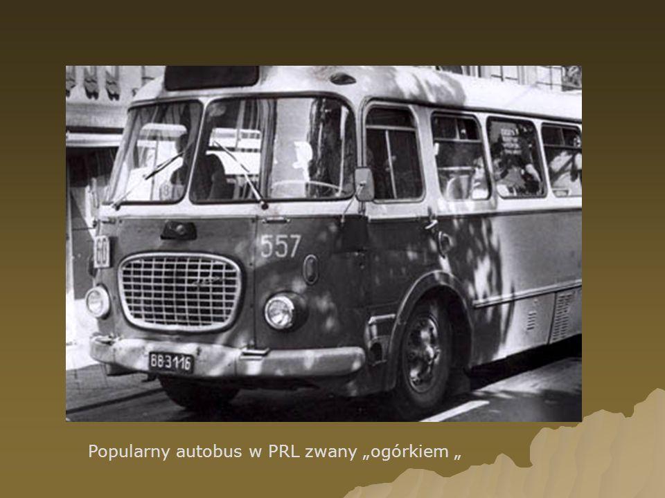 """Popularny autobus w PRL zwany """"ogórkiem """""""