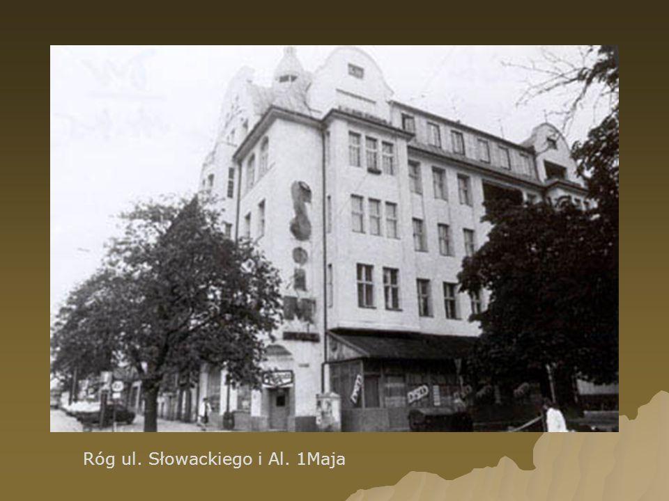 Róg ul. Słowackiego i Al. 1Maja