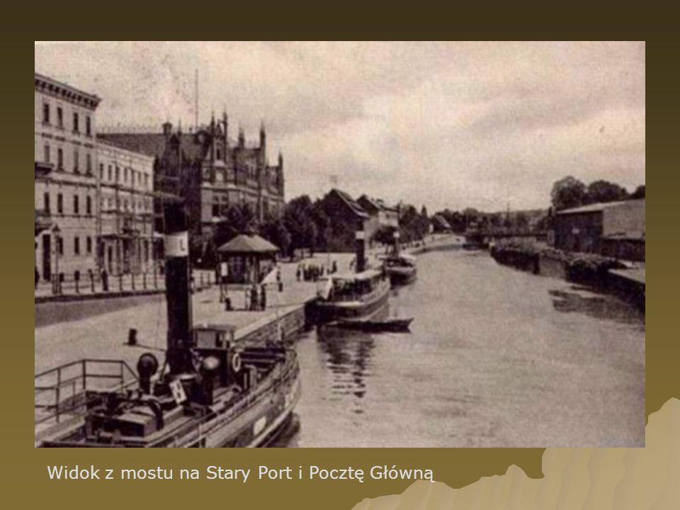 Widok z mostu na Stary Port i Pocztę Główną