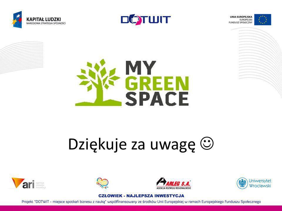 MyGreenSpace.eu Dziękuje za uwagę 