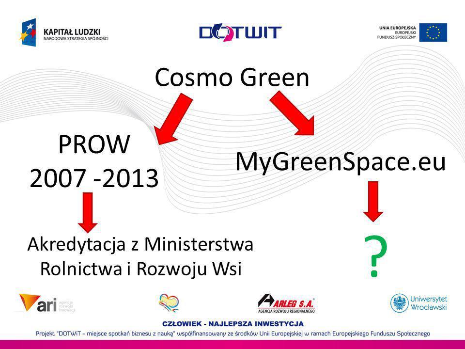 Cosmo Green PROW MyGreenSpace.eu 2007 -2013