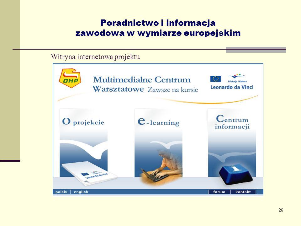 Poradnictwo i informacja zawodowa w wymiarze europejskim