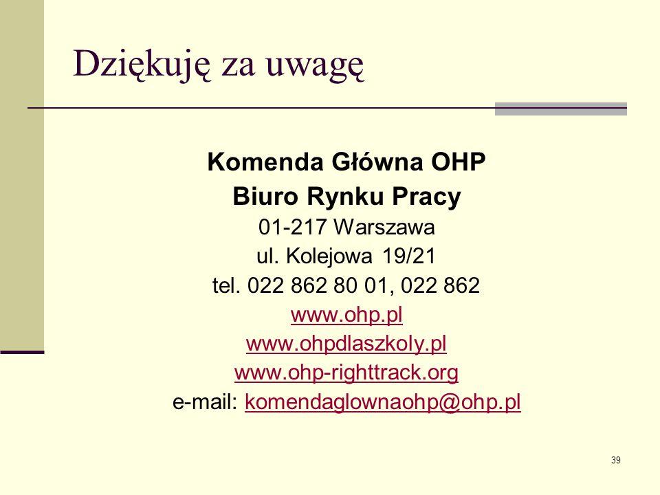 e-mail: komendaglownaohp@ohp.pl