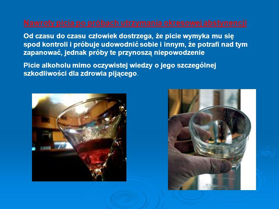 Nawroty picia po próbach utrzymania okresowej abstynencji