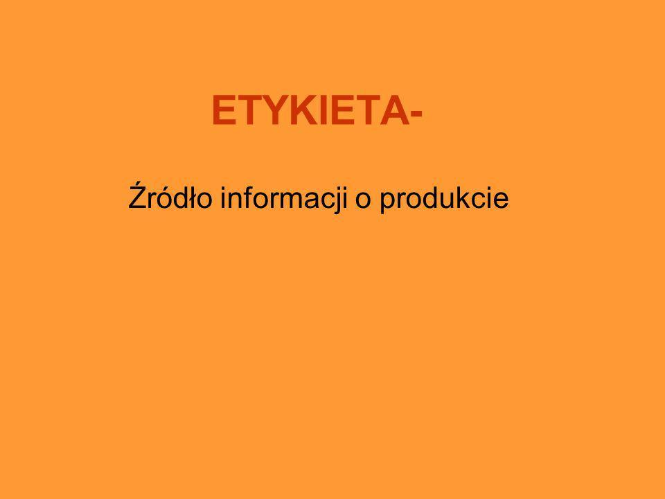 Źródło informacji o produkcie