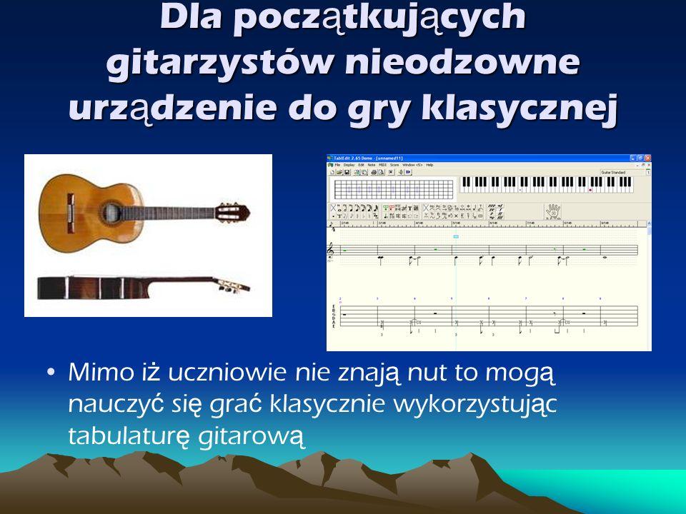 Dla początkujących gitarzystów nieodzowne urządzenie do gry klasycznej