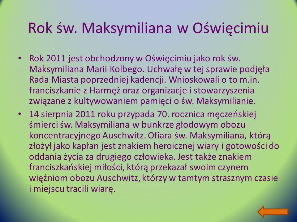 Rok św. Maksymiliana w Oświęcimiu