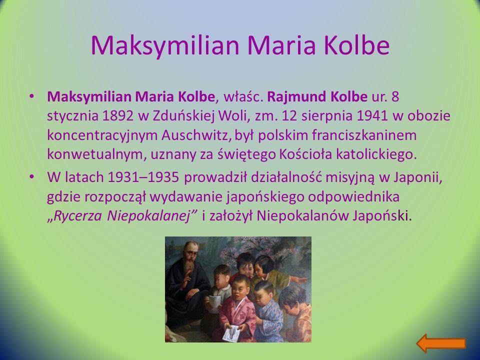 Maksymilian Maria Kolbe