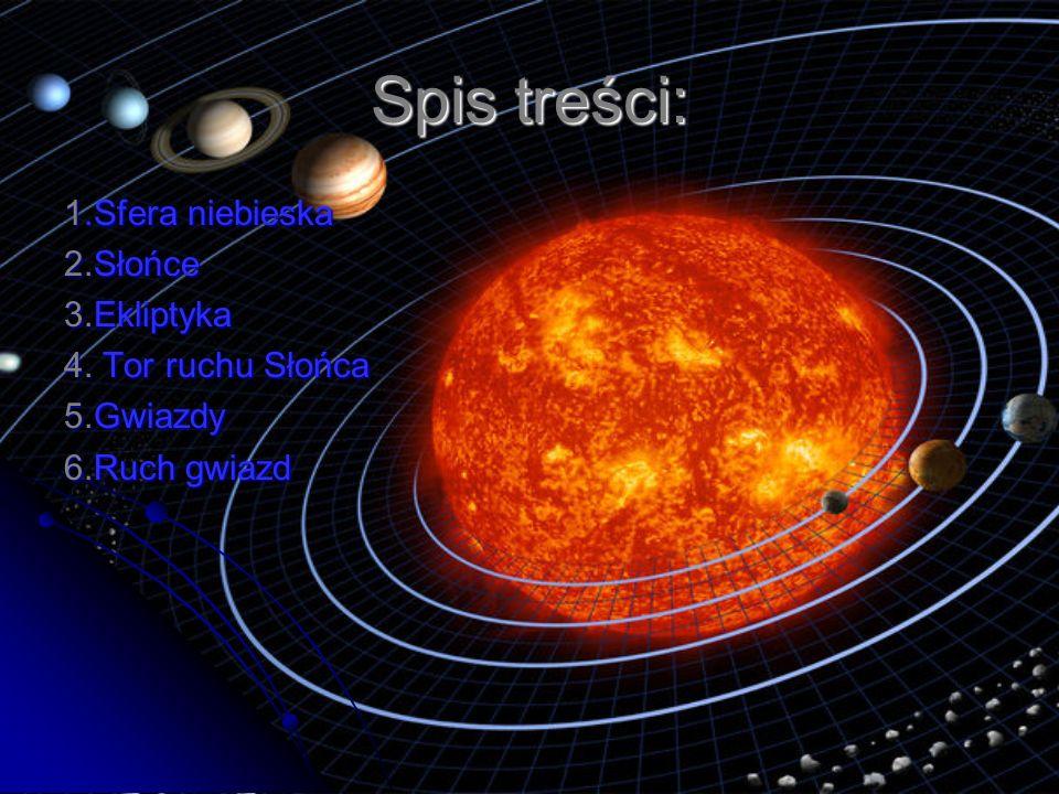 Spis treści: 1.Sfera niebieska 2.Słońce 3.Ekliptyka