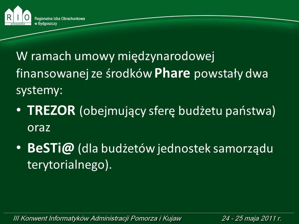 TREZOR (obejmujący sferę budżetu państwa) oraz