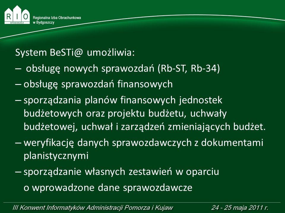 System BeSTi@ umożliwia: