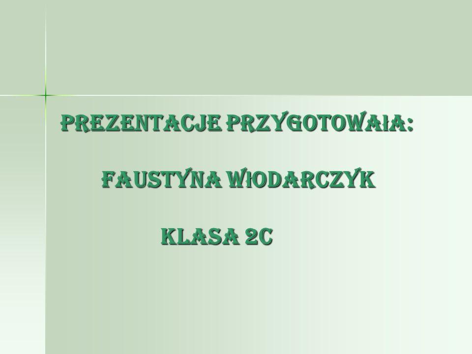 Prezentacje przygotowała: Faustyna Włodarczyk klasa 2c