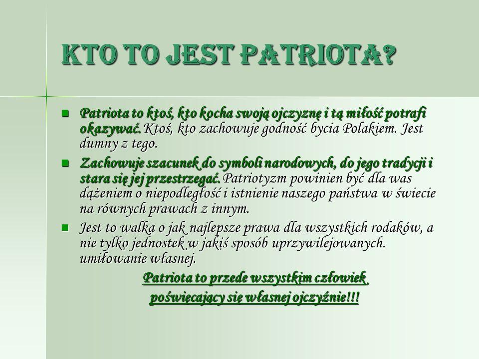 Kto to jest patriota