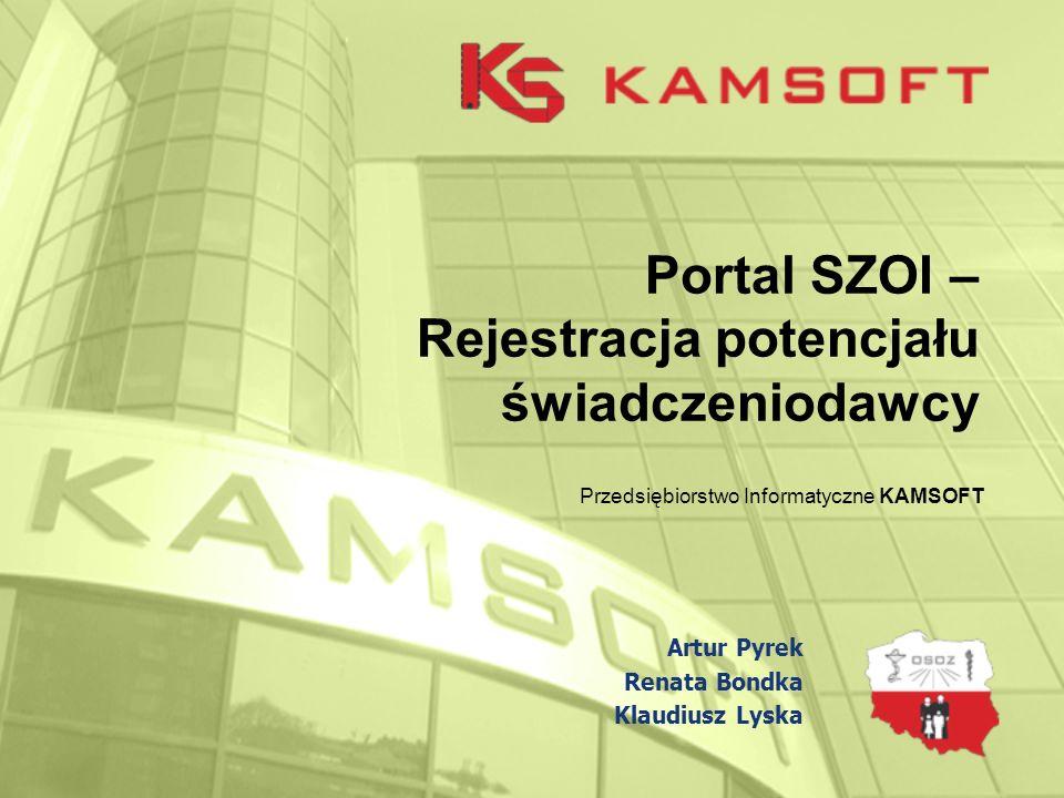 Portal SZOI – Rejestracja potencjału świadczeniodawcy