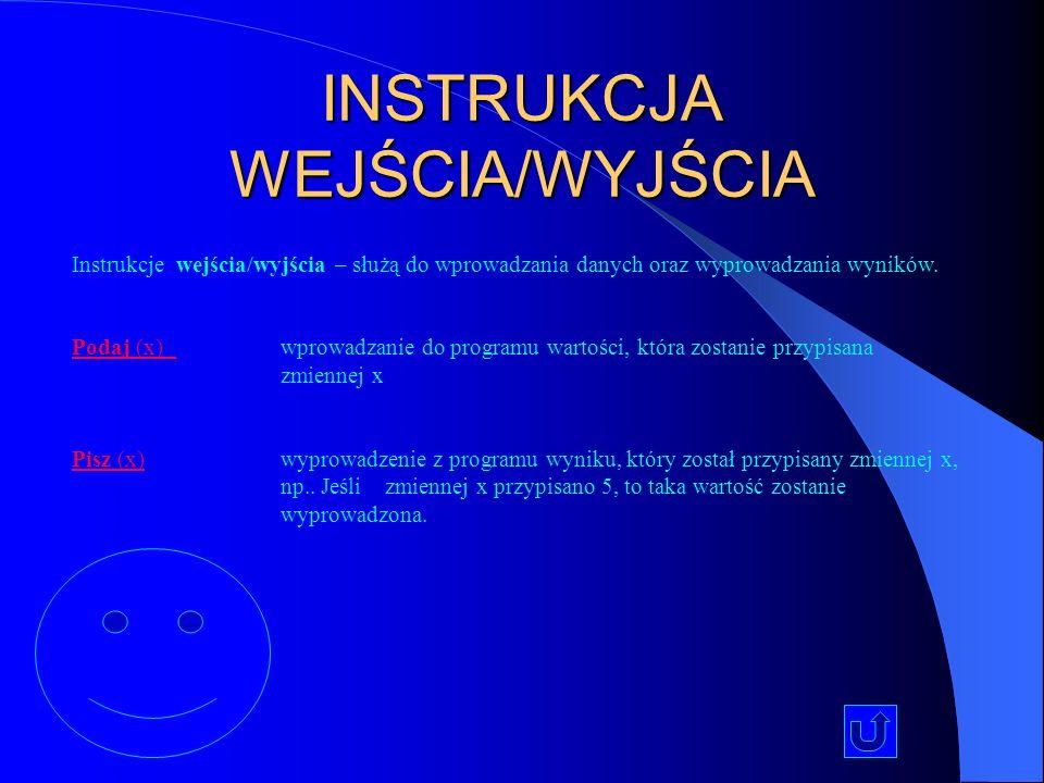 INSTRUKCJA WEJŚCIA/WYJŚCIA