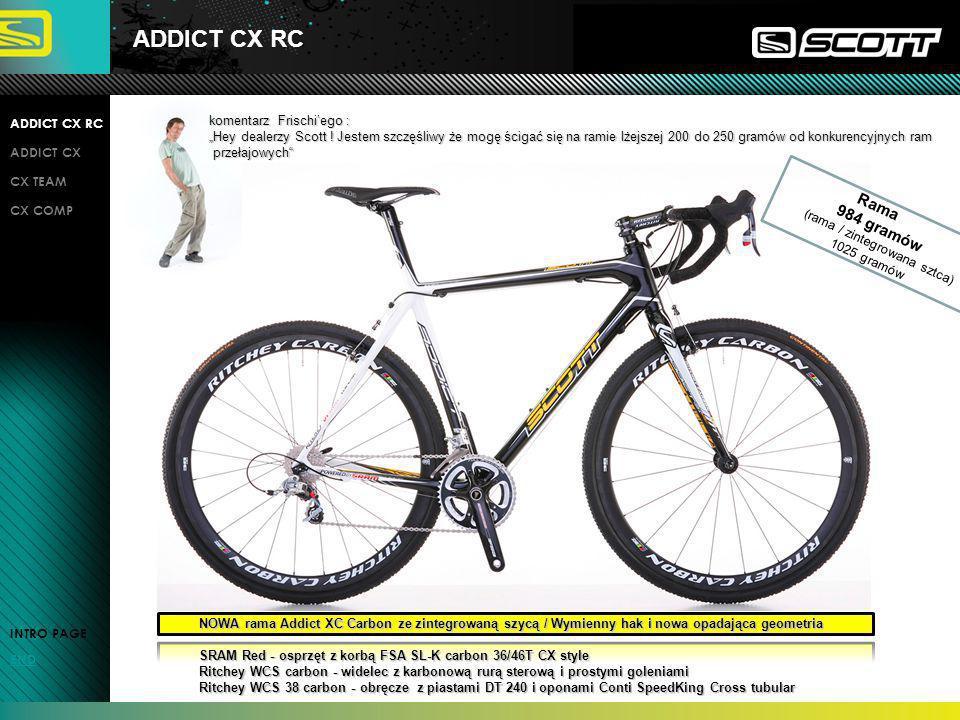 ADDICT CX RC Rama 984 gramów komentarz Frischi'ego : ADDICT CX RC