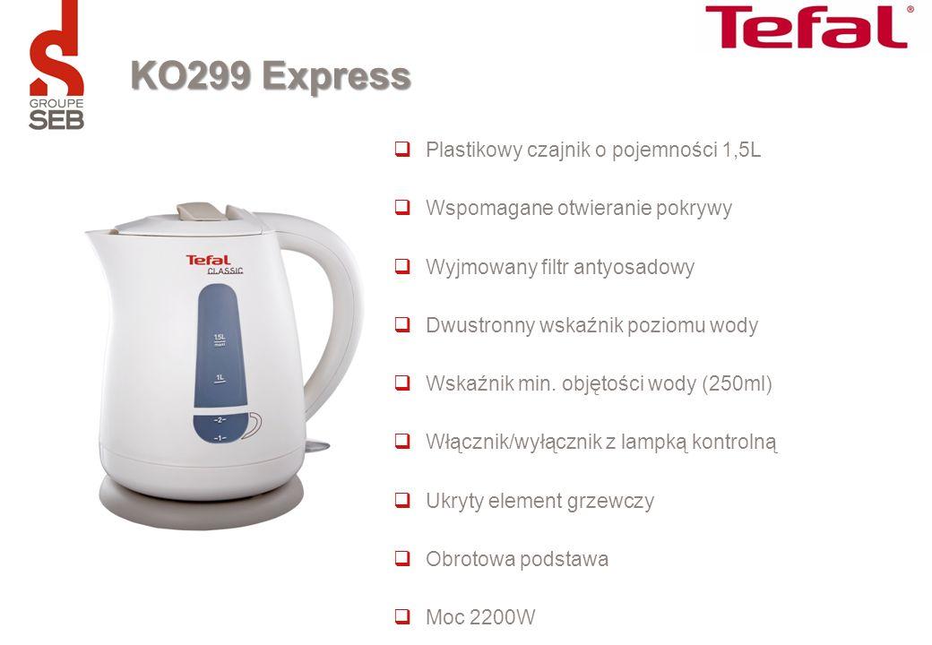 KO299 Express Plastikowy czajnik o pojemności 1,5L