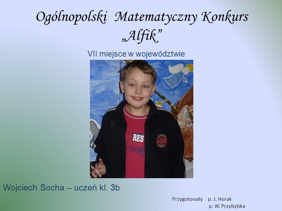 """Ogólnopolski Matematyczny Konkurs """"Alfik"""