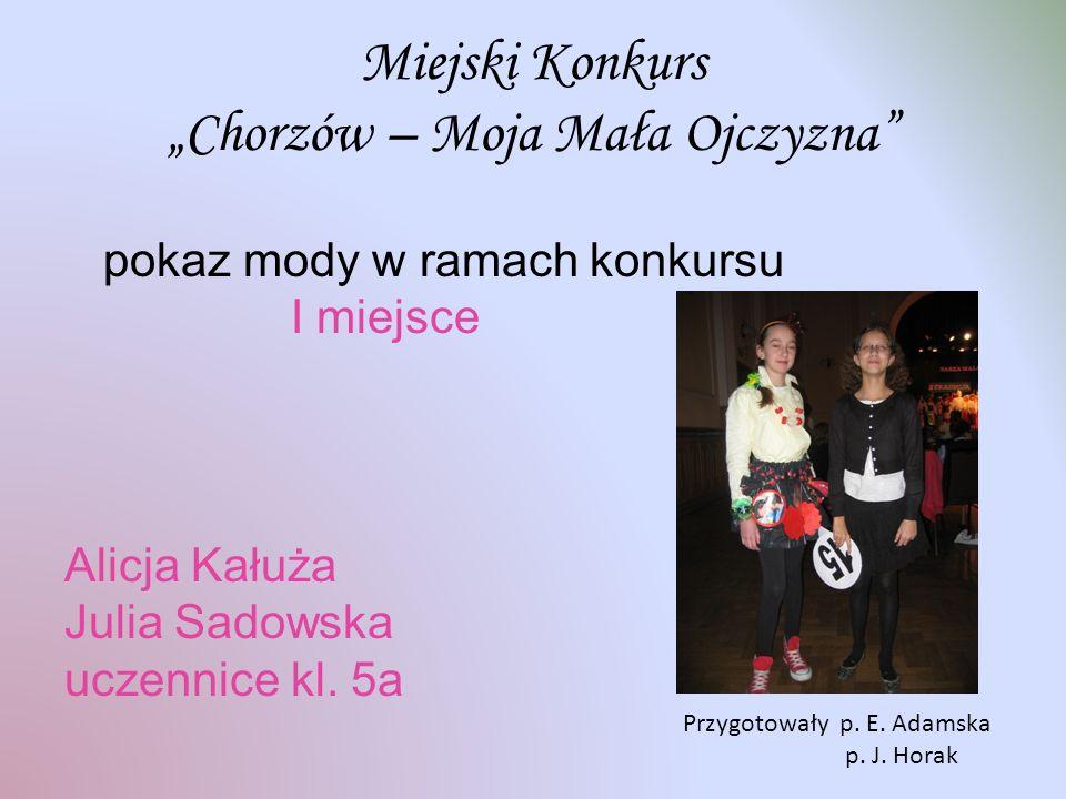 """Miejski Konkurs """"Chorzów – Moja Mała Ojczyzna"""