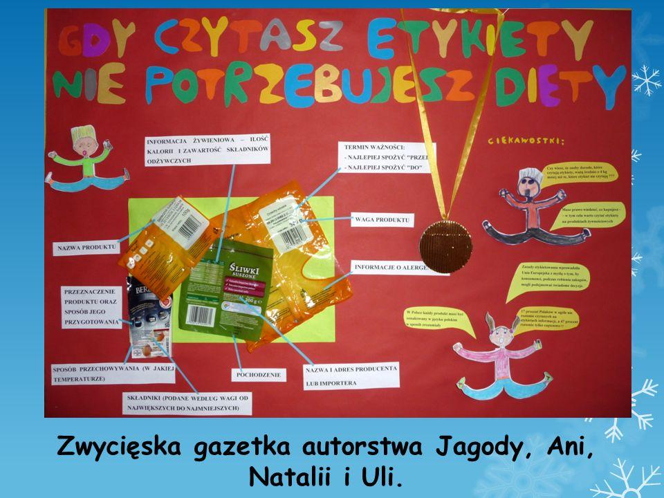 Zwycięska gazetka autorstwa Jagody, Ani, Natalii i Uli.