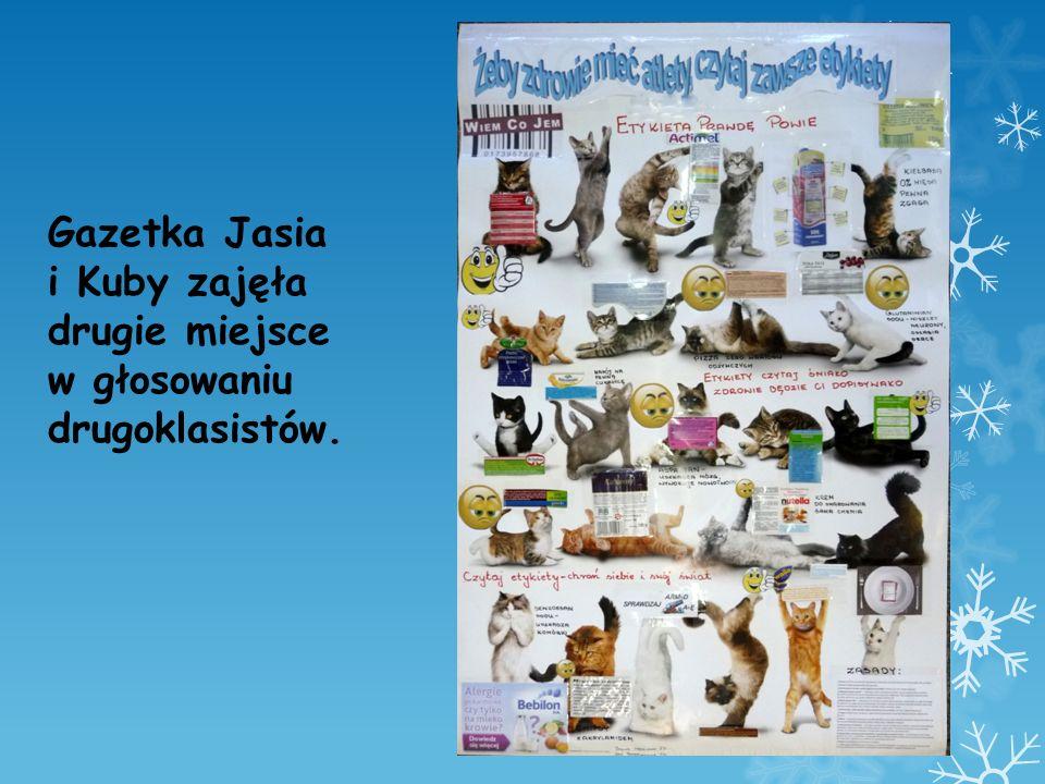 Gazetka Jasia i Kuby zajęła drugie miejsce w głosowaniu drugoklasistów.