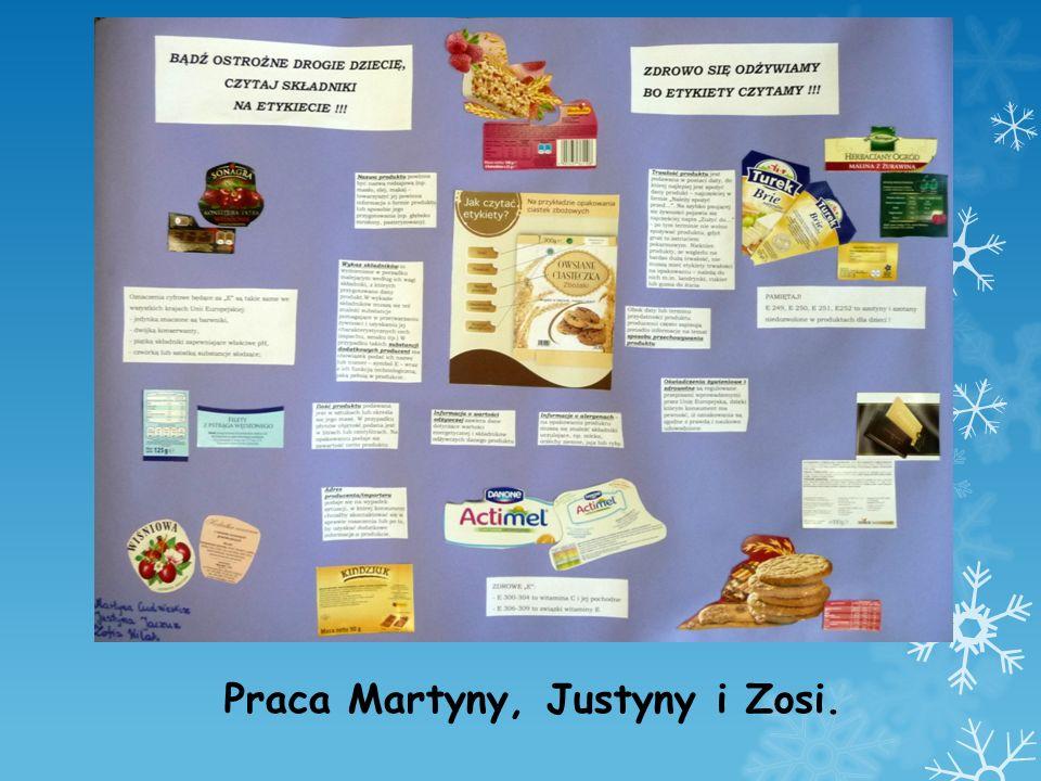 Praca Martyny, Justyny i Zosi.
