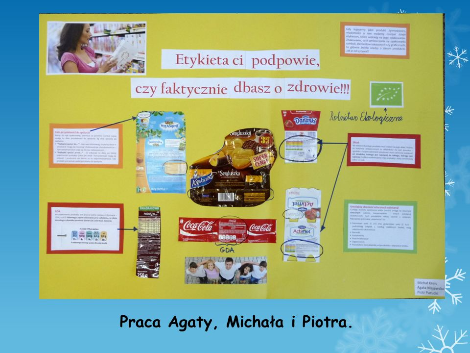 Praca Agaty, Michała i Piotra.