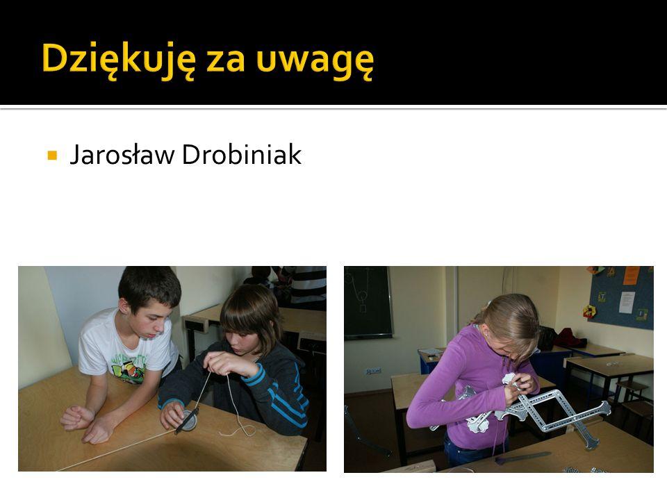 Dziękuję za uwagę Jarosław Drobiniak