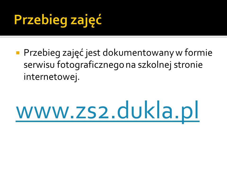 www.zs2.dukla.pl Przebieg zajęć