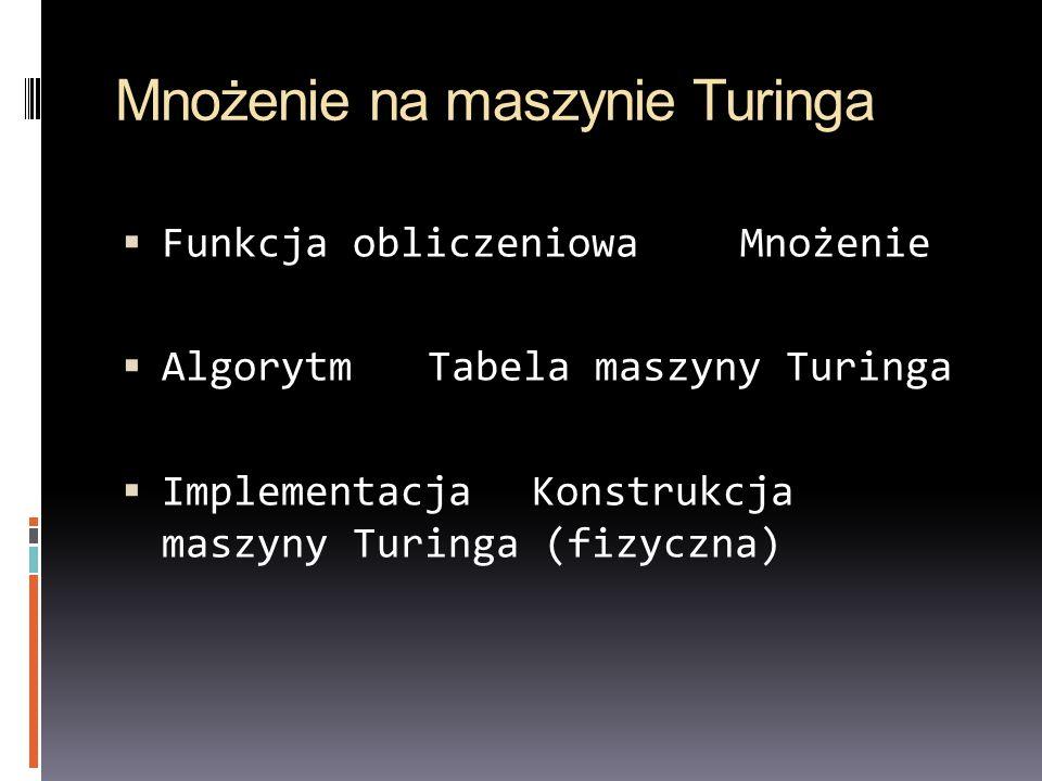 Mnożenie na maszynie Turinga