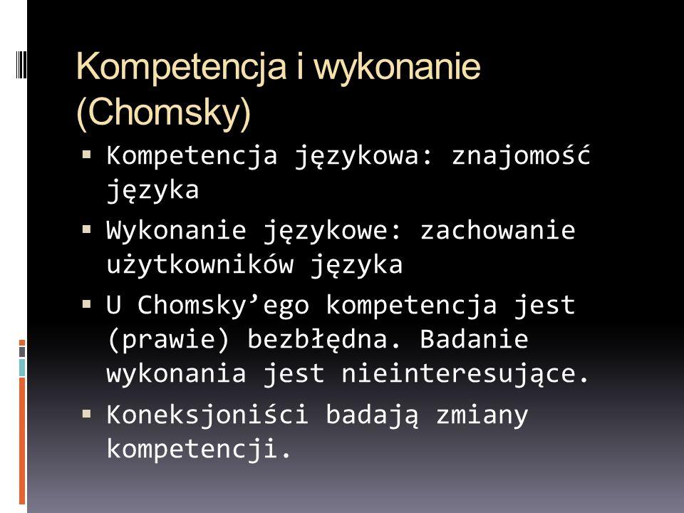 Kompetencja i wykonanie (Chomsky)