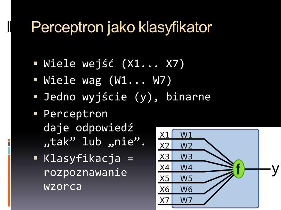 Perceptron jako klasyfikator
