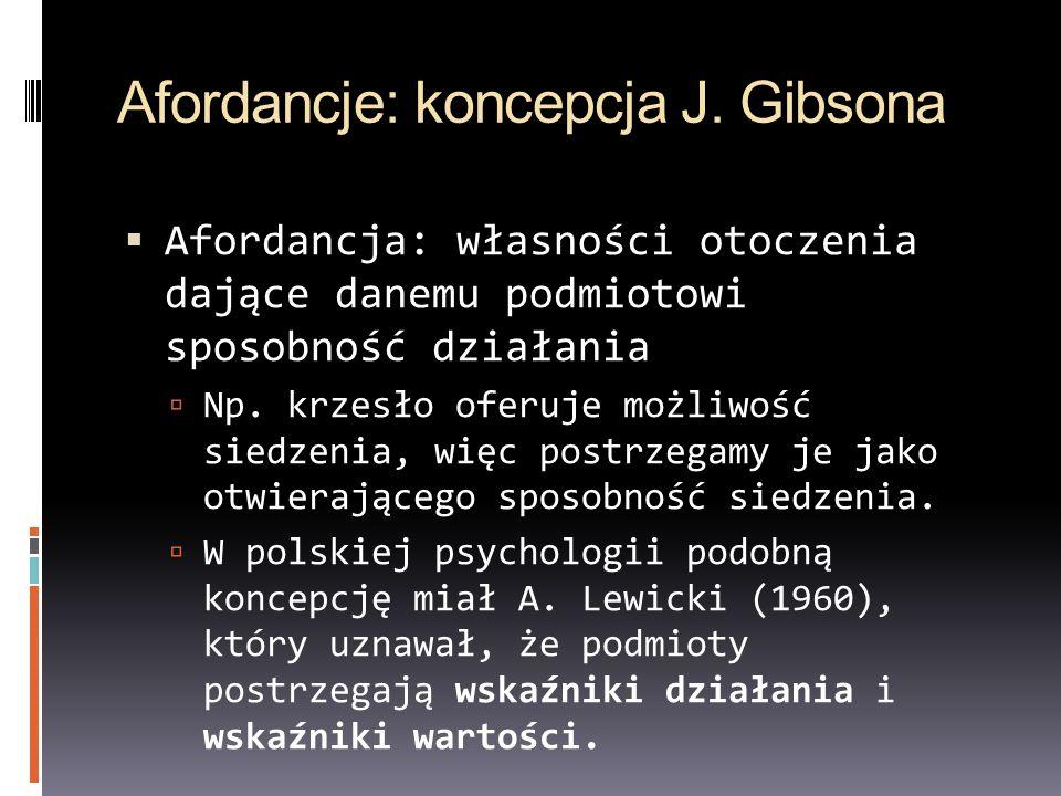 Afordancje: koncepcja J. Gibsona
