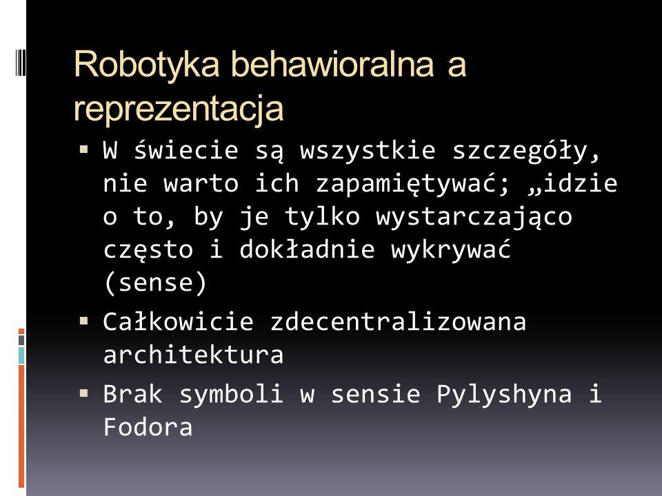 Robotyka behawioralna a reprezentacja