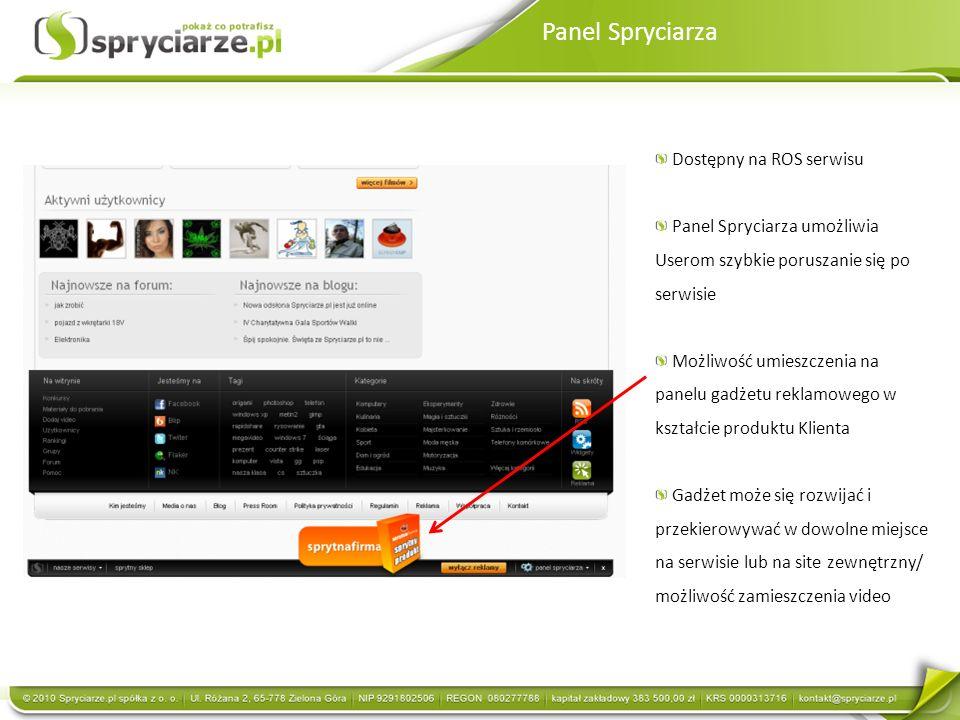 Panel Spryciarza Dostępny na ROS serwisu