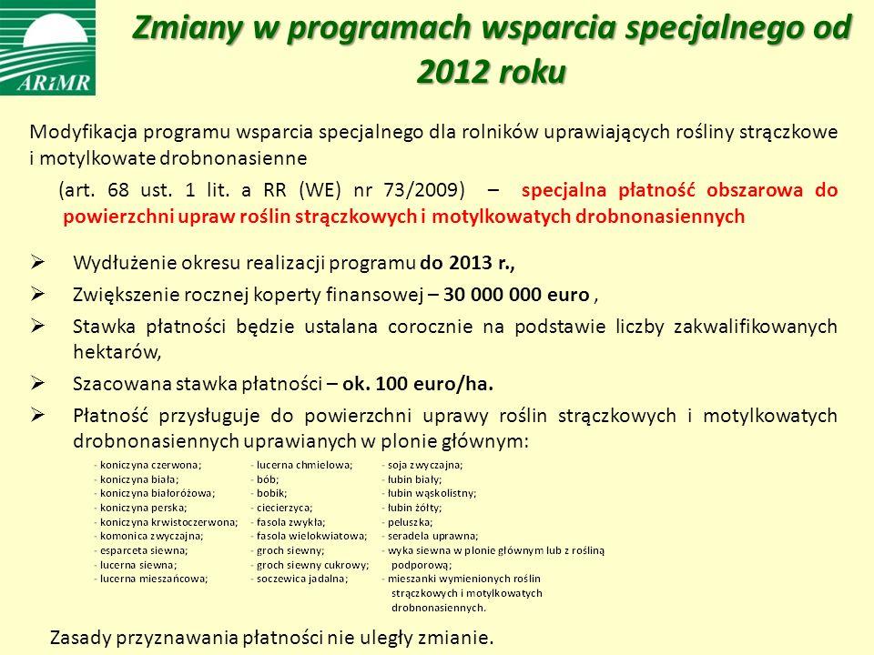Zmiany w programach wsparcia specjalnego od 2012 roku