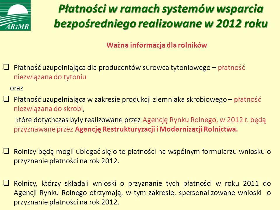 Ważna informacja dla rolników