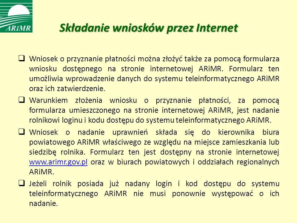 Składanie wniosków przez Internet